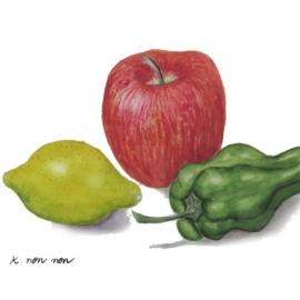 門脇暢子:リンゴとピーマンとレモン