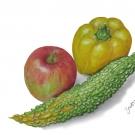宮川祐子:リンゴ、ゴウヤ、パプリカ