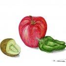 果物とピーマン:中村三千子