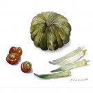 カボチャ、トマト、オクラ:福島伸子
