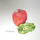 リンゴとピーマン:長谷川聖恵