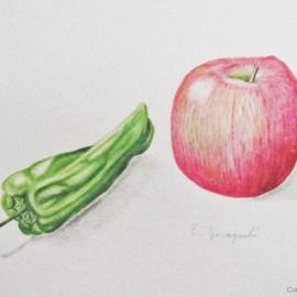 リンゴとピーマン:山口悦子