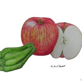 水野三代子:リンゴ